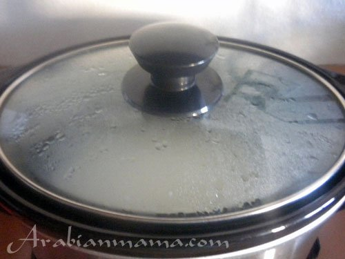A close up of rice cooker