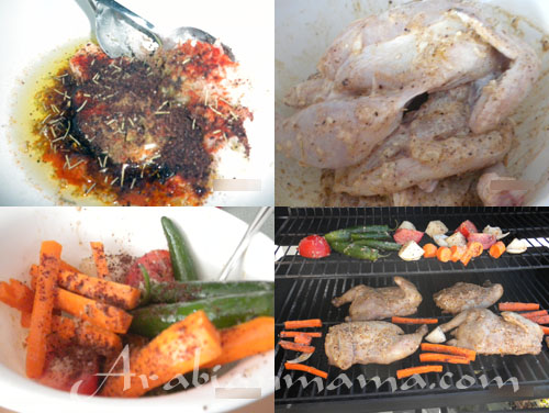 Step by step photos for making Sumac Chicken