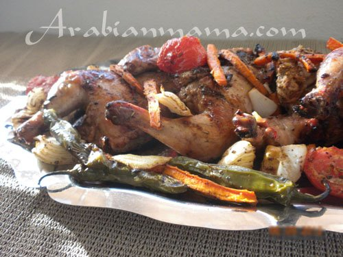 A close up for Sumac chicken on a plate