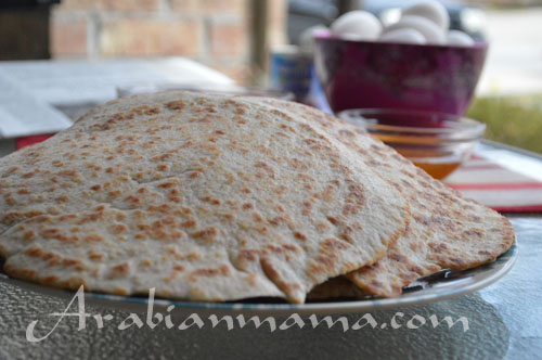 Flat bread with olive oil