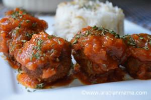 koftet-roz-arabian meatballs
