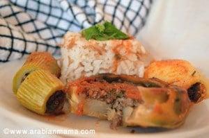 Stuffed Artichoke, Potato and Zucchini recipe