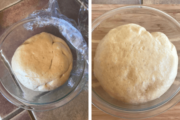 Make the sweet bread roll : fifth step let it rise
