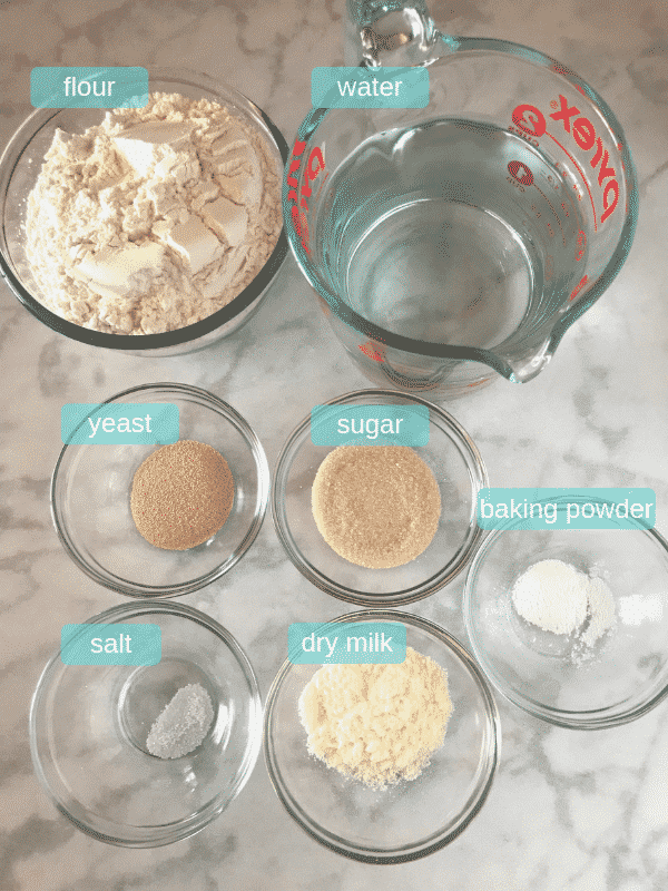 A photo showing ingredients for Qatayef recipe