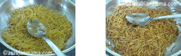 A bowl of food, with Vermicelli