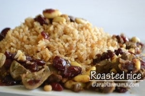 Roasted rice with nuts