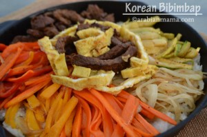 Korean Bibimbap # the daring cooks' challenge