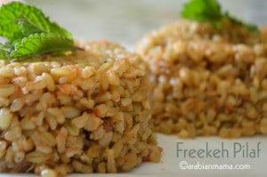 Freekeh Pilaf (freek mefalfel)