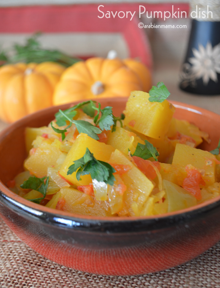 A savory dish with a hint of sweetness, only for pumpkin lovers who would eat pumpkin anyways.