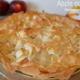 A close up of food, with Apple pie and Phyllo pastry