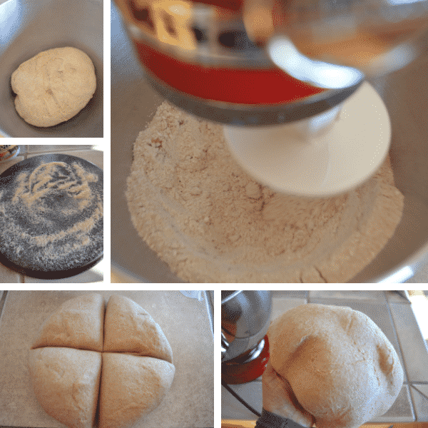 Step by step photos for Unleavened bread