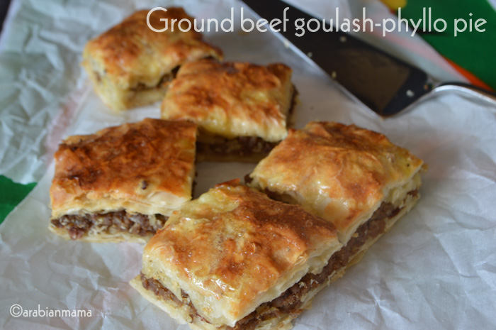 Ground beef goulash- phyllo pie | NILE TO ROCKIES CUISINE