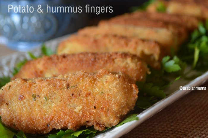 potato and hummus fingers