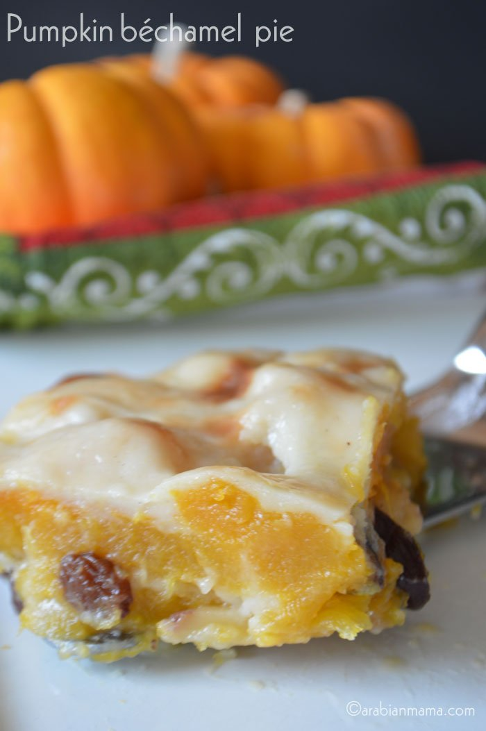 Egyptian Pumpkin bechamel pie