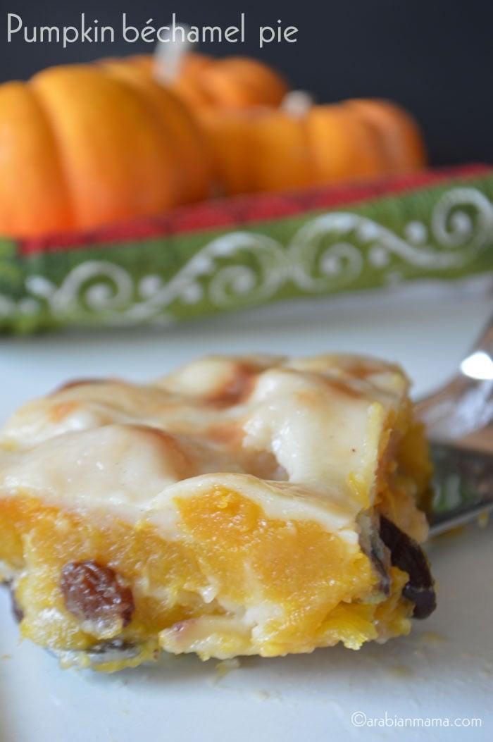 Egyptian Pumpkin bechamel pie
