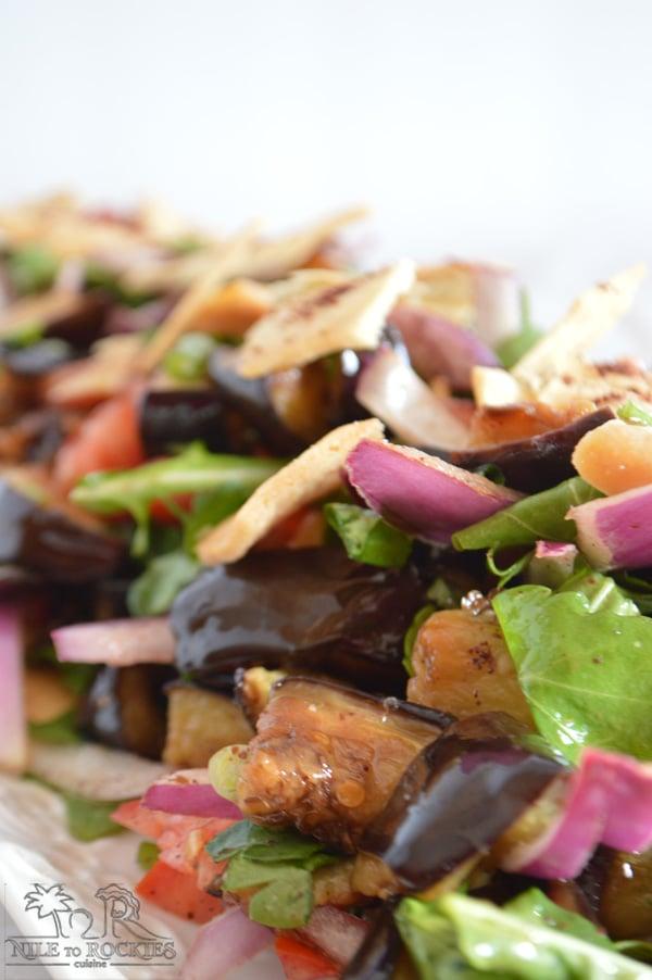 Healthy aubergine recipe