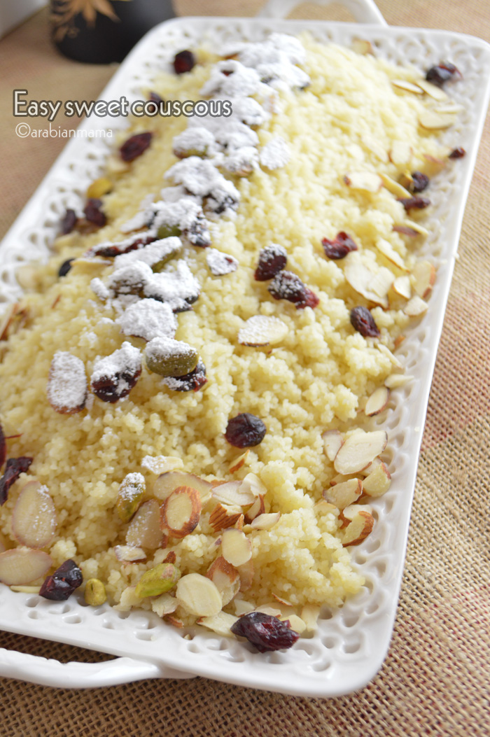 Once you try this super easy dessert, you'll be a convert to couscous. This traditional couscous recipe with its nutty flavor and slightly chewy texture makes a homey simple dessert.