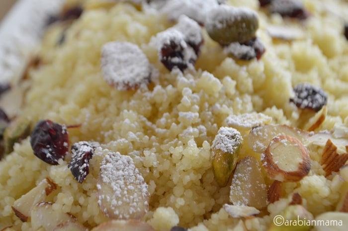 Easy dessert- sweet couscous