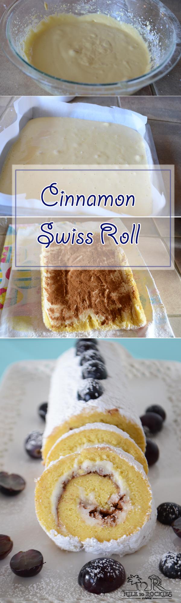 An infograph of Swiss roll recipe