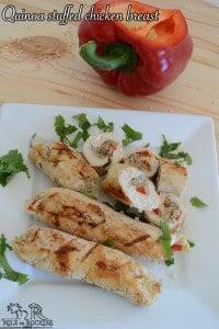 Quinoa stuffed chicken breasts