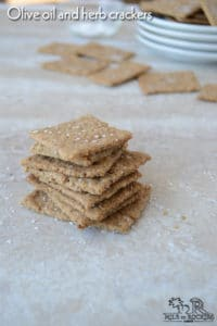 Olive oil and herb crackers