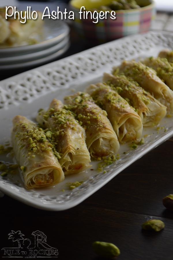 Phyllo ashta fingers amiras pantry lebanese dessert forumfinder Image collections