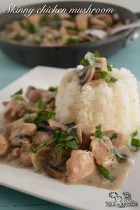Easy, skinny chicken mushroom casserole