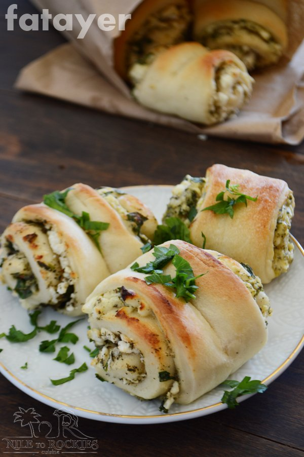 Cheese mint fatayer