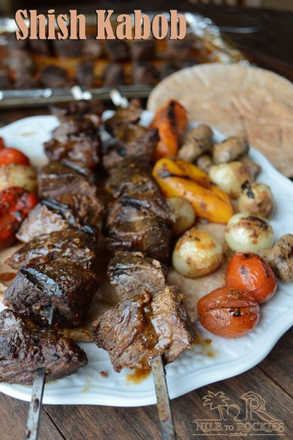 Beef Shish Kabob Middle East recipe of the best marinated beef grilled to perfection