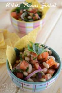white (cannellini) bean salad