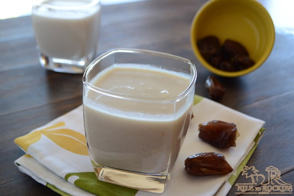 Sweet dates and creamy milk are blended together to get this creamy, dreamy date shake or date milkshake. This rich healthy smoothie is naturally sweet and can be easily made vegan and dairy free.