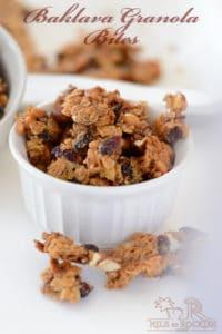 Like Baklava? what about baklava granola bites?