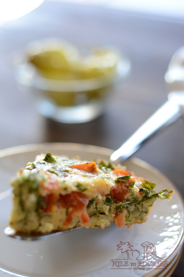 An easy, fast and hearty egg dish that is loaded with herbs and perfect for just about any meal. Beat the eggs with some herbs, flour, onions and season with salt and pepper then bake in the oven. The result will be a dish that hovers between quiche and omelet.