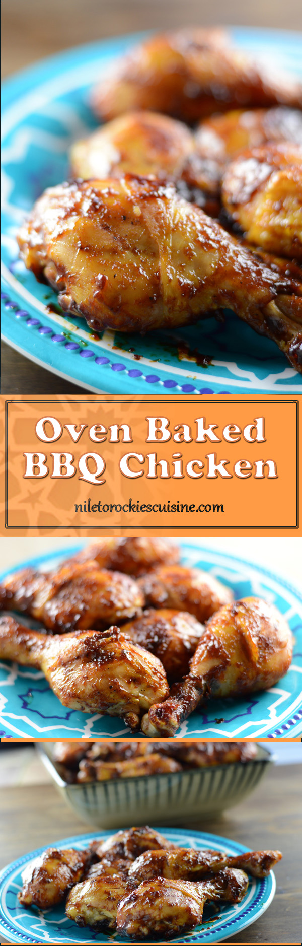 Luscious and tender recipe for BBQ chicken made right in the oven of your own kitchen.One of the easiest bbq chicken recipes that ever existed and guess what?, it only requires a handful of ingredients that is probably there in your kitchen.