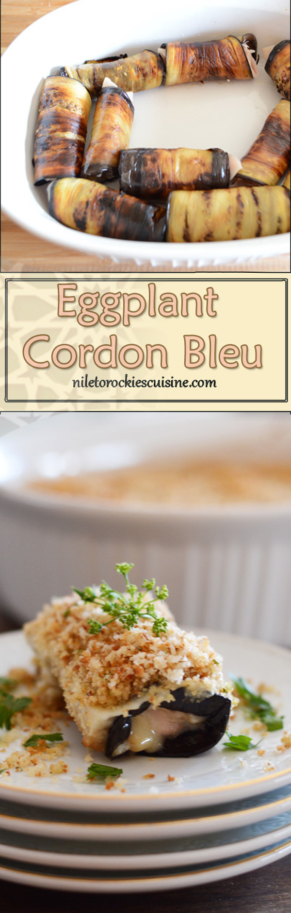 A veggie twist to the classic cordon bleu, no chicken needed