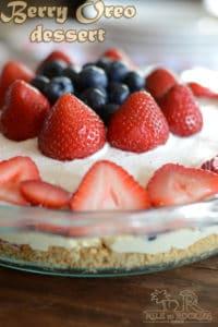 No bake mixed berry oreo dessert