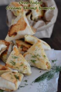 Oven Baked creamy Shrimp Samosa Recipe