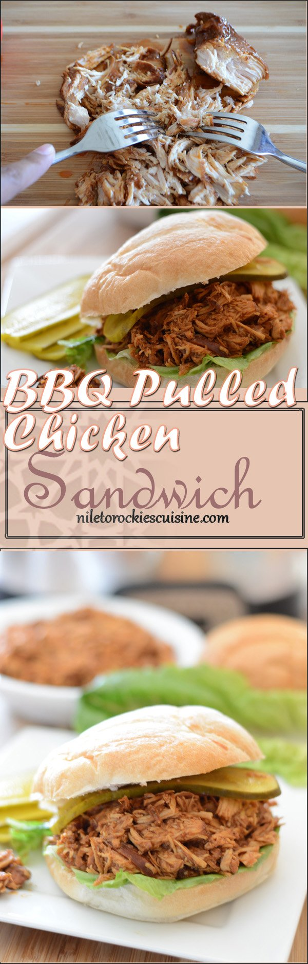 An easy and quick bbq pulled chicken sandwiches recipe for your next party, throw everything in the slow cooker and let it do its magic.