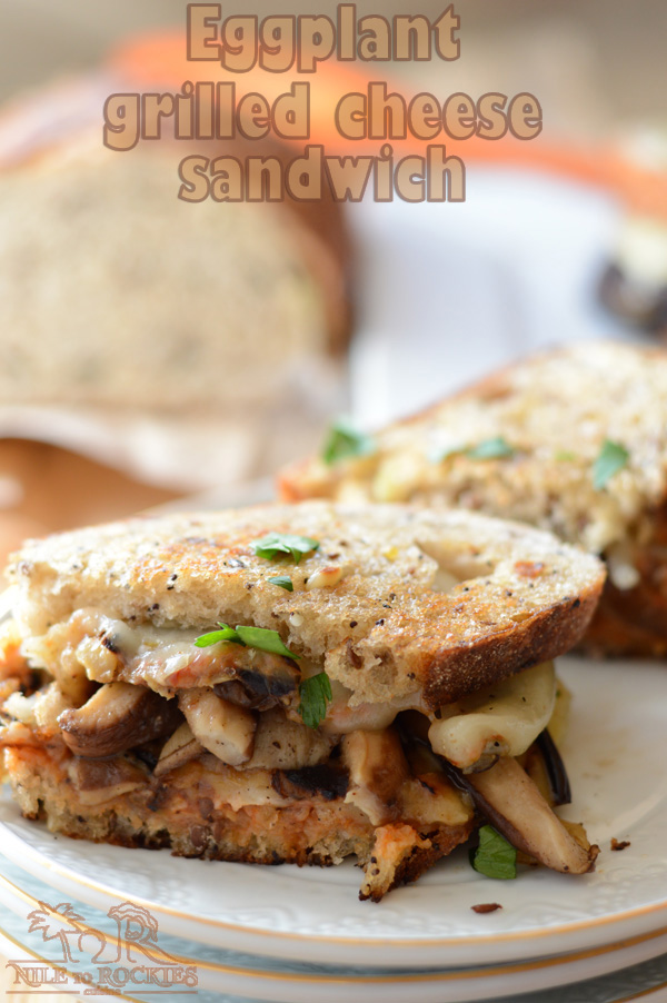 Want more grilled cheese sandwich ideas? how about an easy, delicious and vegetarian melty eggplant grilled cheese sandwich with hearty roasted mushrooms.Ready in less than 20 minutes.