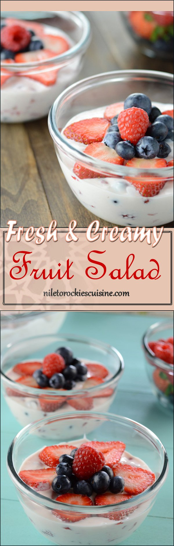 Use seasonal fruits to pamper your guests in your next party, indulging together in this creamy fruity heaven. Finally a recipe for fruit salad for kids.