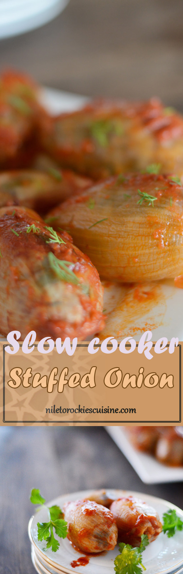 If you've never heard of stuffed onion in slow cooker, or if you have never been a fan of onions, beware that these chubby little gems will make you a convert. CrockPot Stuffed Onions are simple stuffed onion shells, slow cooked to perfection in tomato sauce and served as a one dish meal. Perfect fall/winter comfort food, although I don't mind having this anytime of the year