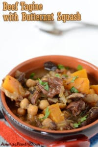 Slow cooker Moroccan Butternut Squash tagine