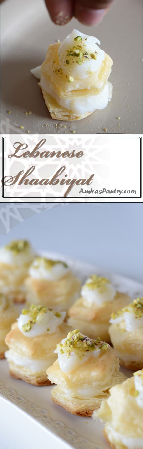Delicate, buttery, creamy and sweet, Shaabiyat is a Lebanese treat made easier with the use of puff pastry.