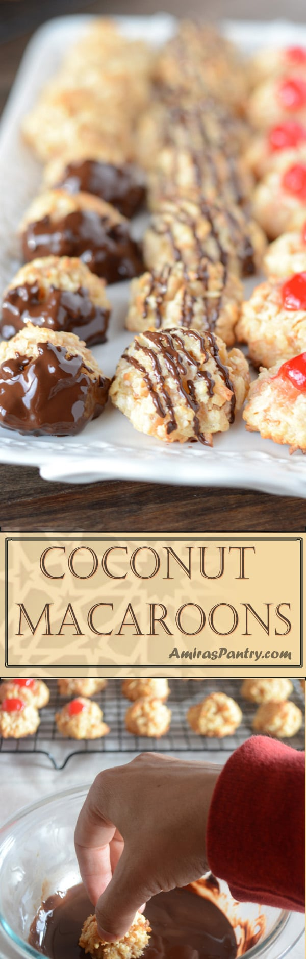 An infograph of Coconut Macaroon recipe