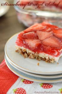 Let's try this classic; Strawberry Pretzel Salad