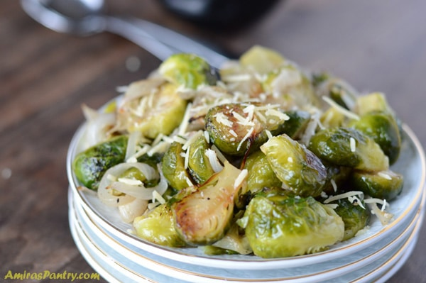 Brussels sprouts roasted appetizer that is a game changer. An easy way to Love Brussels Sprouts.