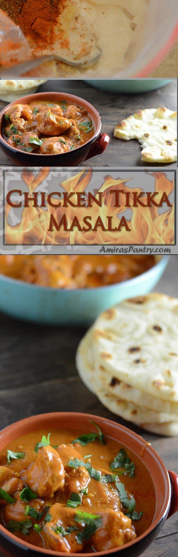 An infograph for Chicken Tikka Recipe