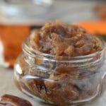 A close up of food in a jar with date paste