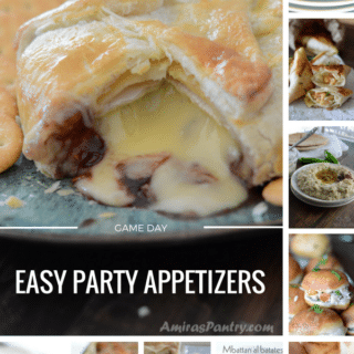 An infograph for Game day appetizers recipes