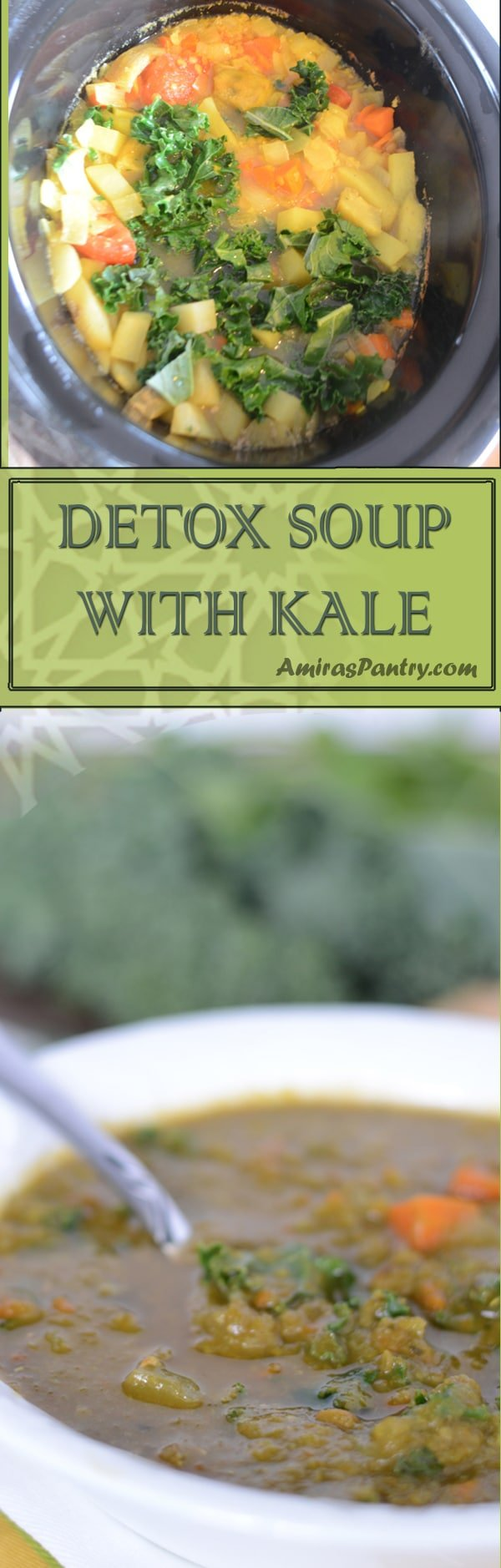 An infograph for Kale soup recipe
